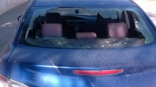 רכב נרגם באבנים סמוך לתקוע – השמשה האחורית נופצה