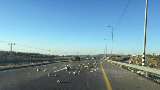 הטרור בארצנו: יידוי אבנים לעבר כלי רכב מדרום לשילה