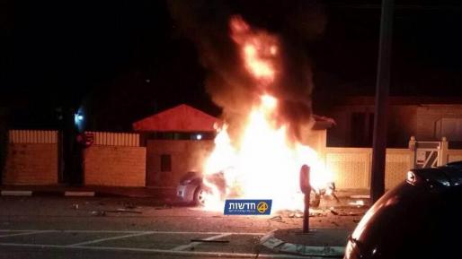 חשד לניסיון חיסול: פיצוץ אירע ברכב בעכו (וידאו)