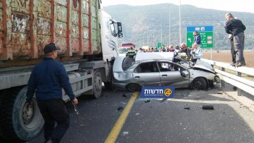 הרוג ופצוע בתאונת דרכים שאירעה בצומת יגור