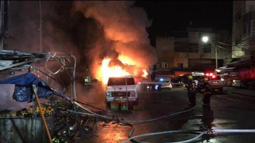 עלטה באזור שכונת הדר בחיפה כתוצאה משריפת חנות