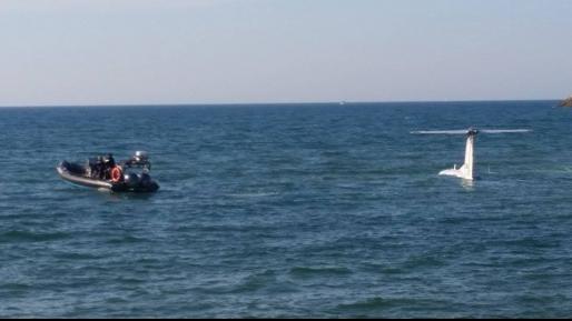 צפו: המטוס שביצע נחיתת חירום בתוך הים בתל אביב