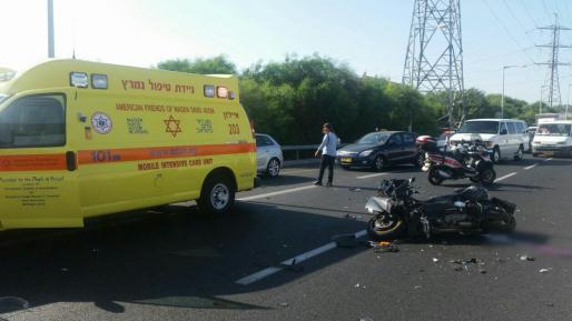רוכב אופנוע נפצע קשה בתאונה בסמוך לצומת הכניסה לאשקלון