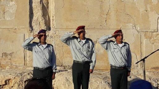 """צפו: טקס החלפת מח""""ט יהודה במערת המכפלה"""