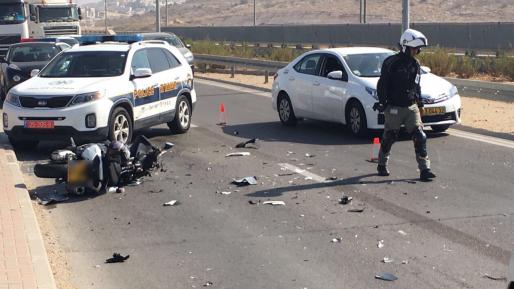 רוכב אופנוע נהרג בתאונת דרכים סמוך למודיעין