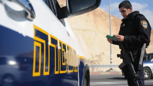 בן 13 מהכפר אזעים נתפס נוהג בכביש 1 ברכב מסחרי