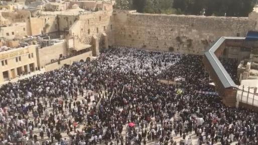 צפו: אלפים ב״ברכת כהנים״ בכותל המערבי