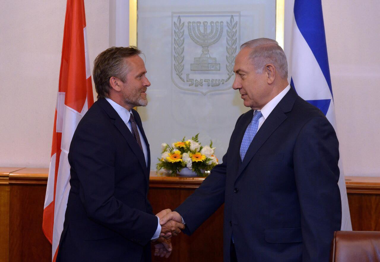 נתניהו לשר החוץ הדני: הפסיקו את הסיוע לעמותות ערביות התומכות ב-BDS