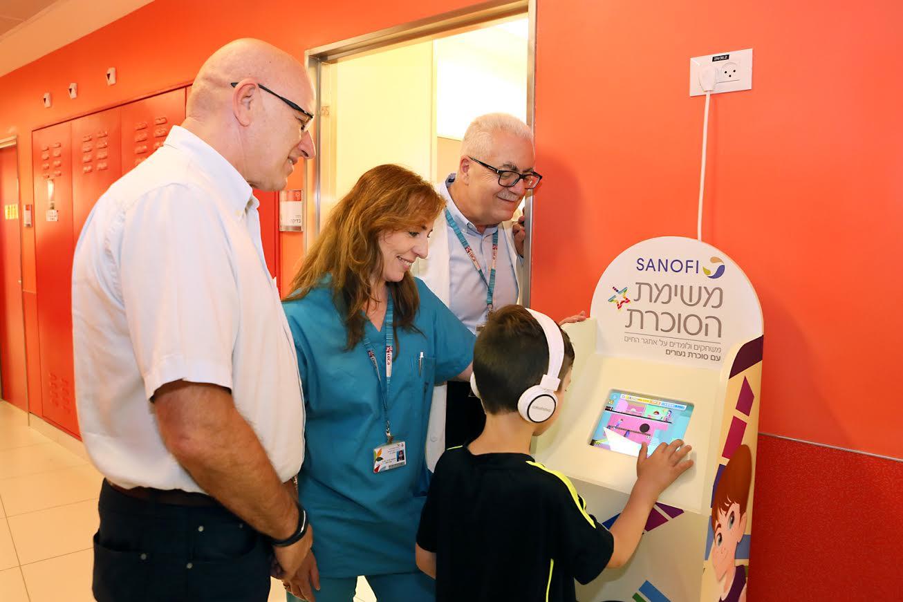 """ילדי רמב""""ם לומדים להתמודד עם סוכרת נעורים דרך משחק מחשב"""