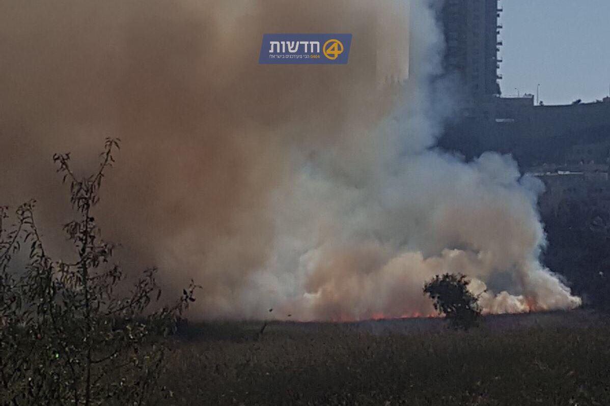 שריפה פרצה בעמק הצבאים בירושלים