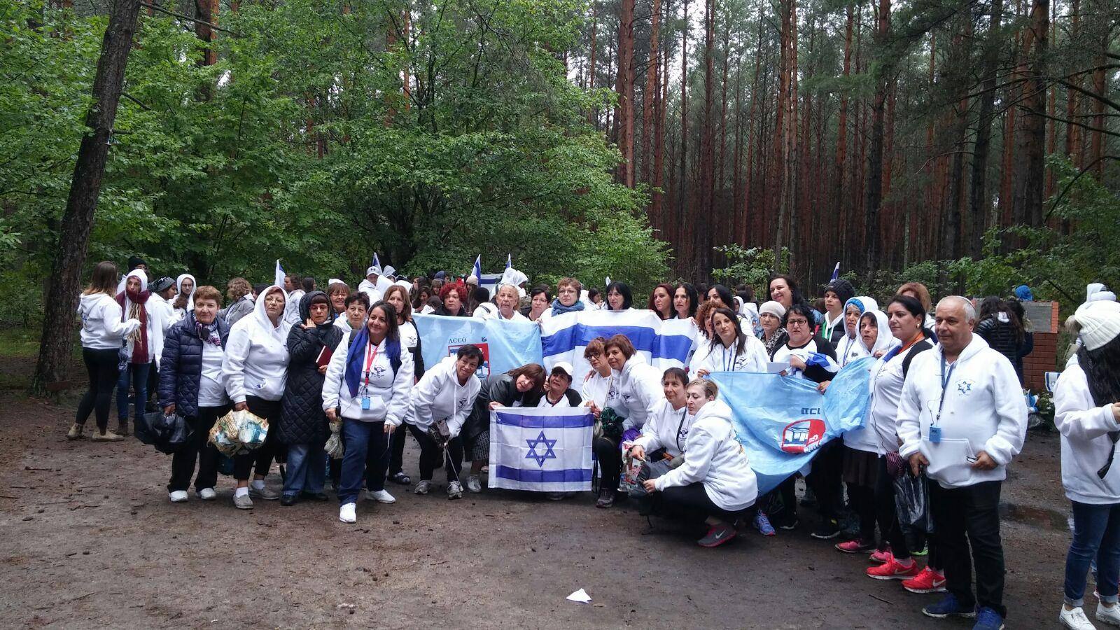 40 נשים מעכו יצאו לביקור במחנות ההשמדה ובגטאות בפולין