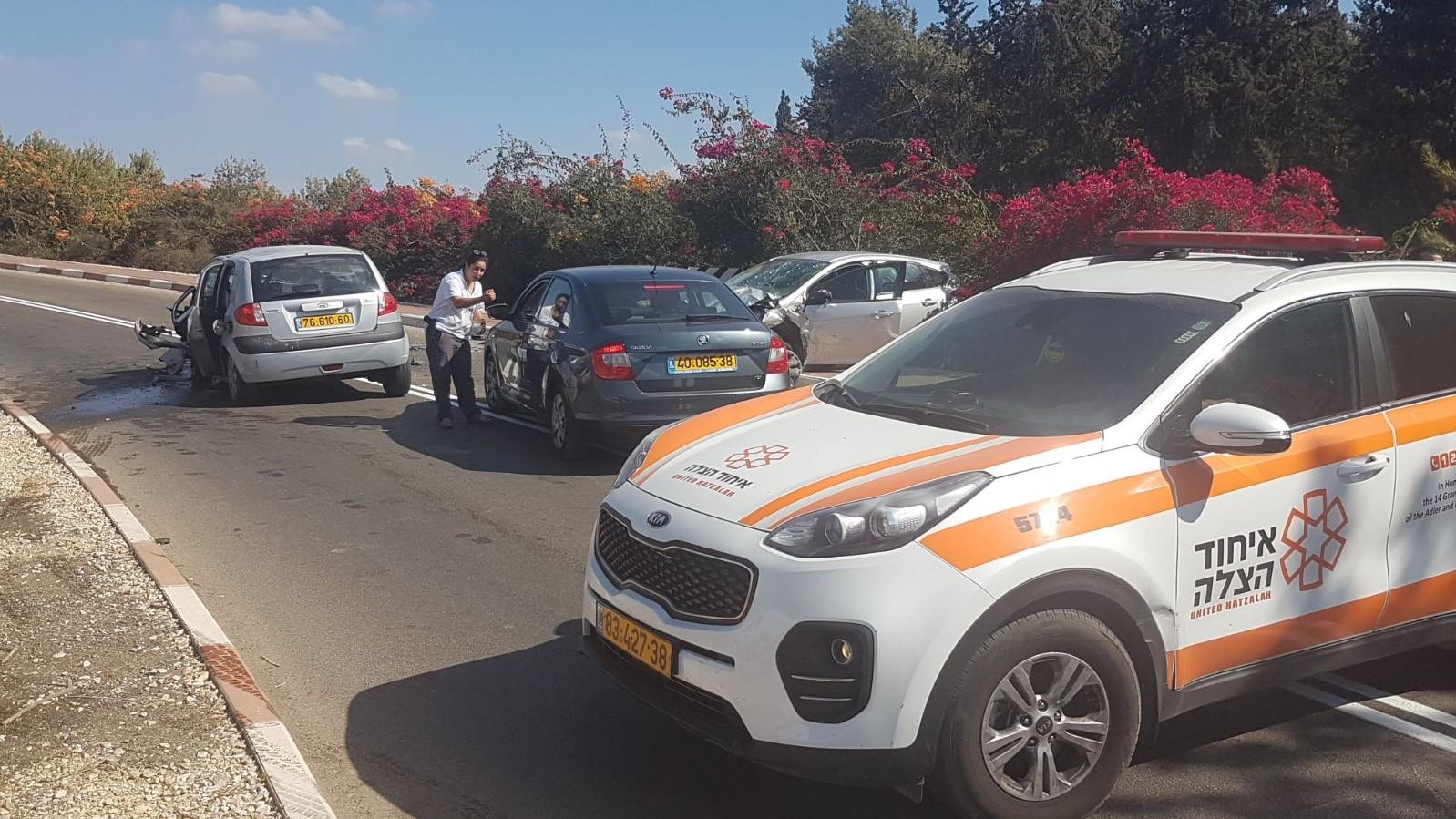 שני פצועים בתאונת דרכים סמוך לכרמי יוסף