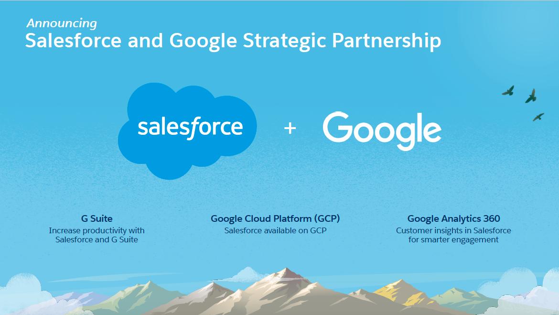 הסכם שותפות היסטורי נחתם בין Salesforce לבין Google