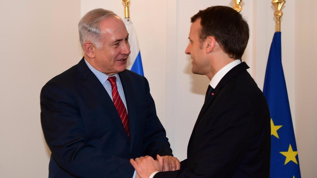 """נתניהו בפגישתו עם נשיא צרפת: """"השותפות בינינו חשובה גם לביטחונה של אירופה"""""""