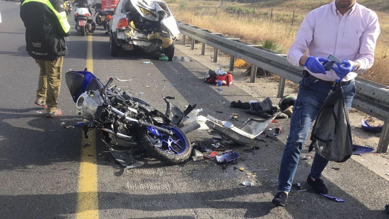 רוכב אופנוע נפצע אנוש בתאונת דרכים סמוך למחלף ראשון לציון
