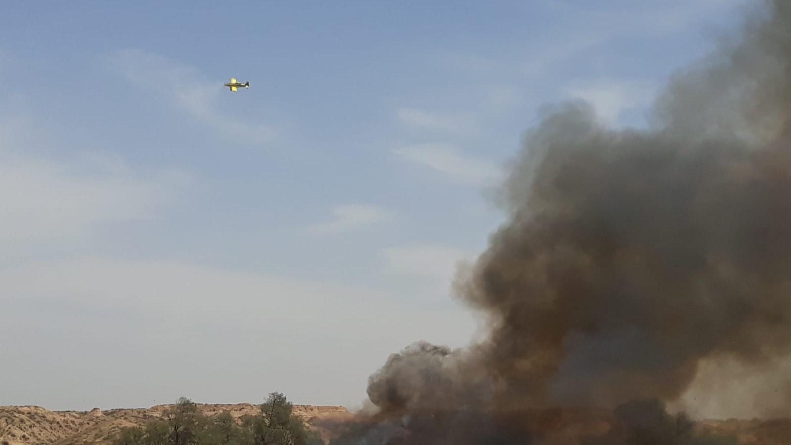 עפיפון תבערה גרם לשריפה באזור אשכול – שריפה נוספת פרצה בקרבת מקום