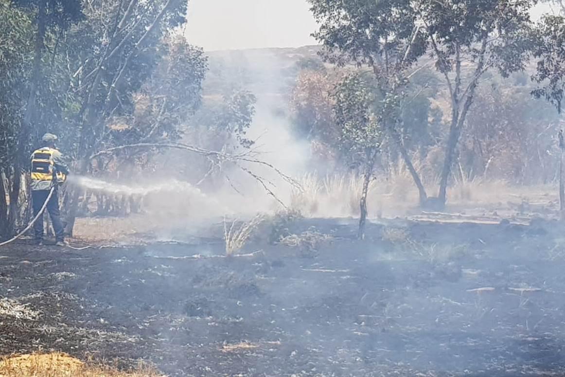 ארבע שריפות הוצתו ביישובי עוטף ישראל כתוצאה מטרור בלוני התבערה