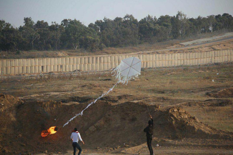 טרור העפיפונים: עפיפון תבערה גרם לשריפה במועצה אזורית אשכול