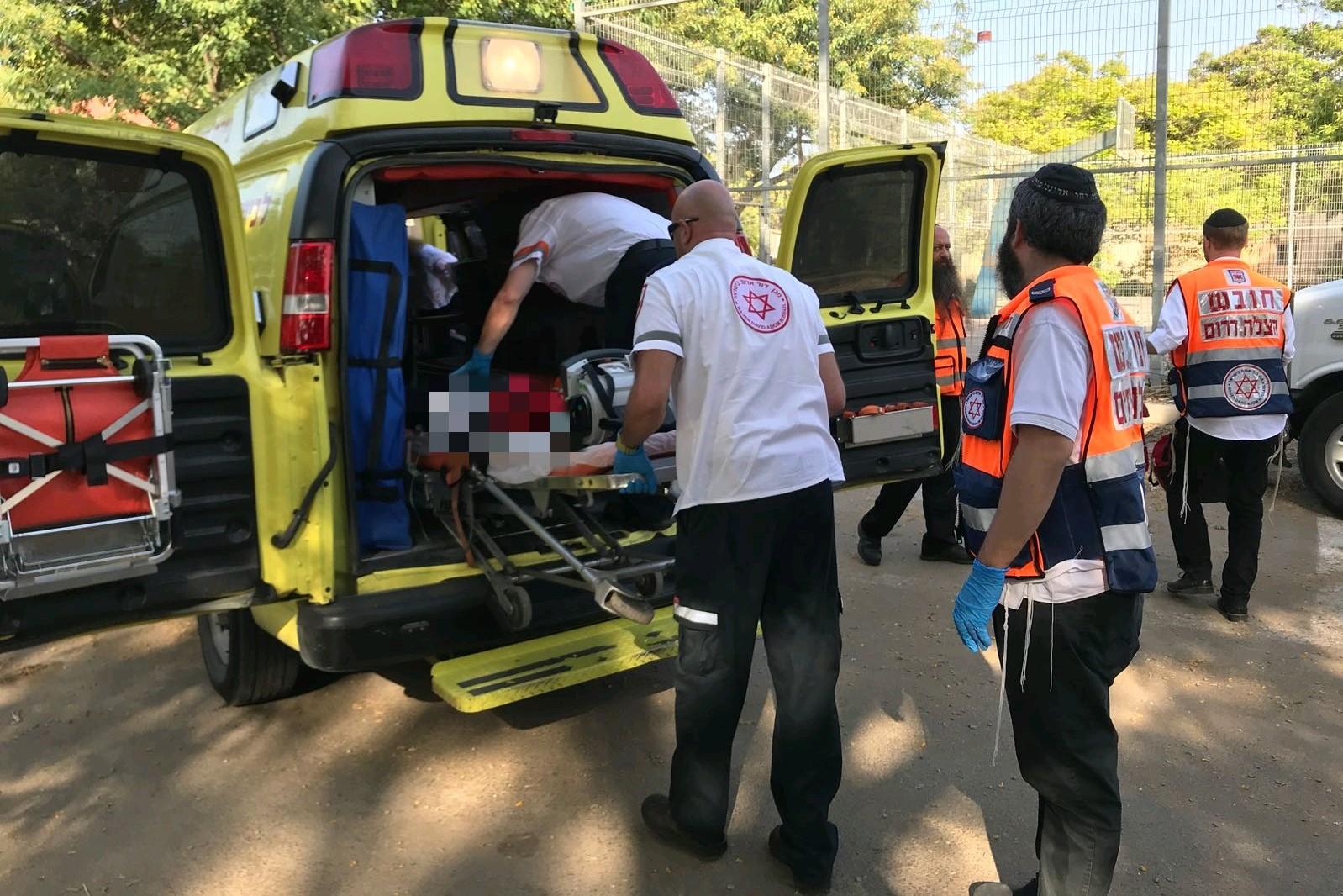 רוכב אופנוע נפגע בתאונת דרכים סמוך לראשון לציון