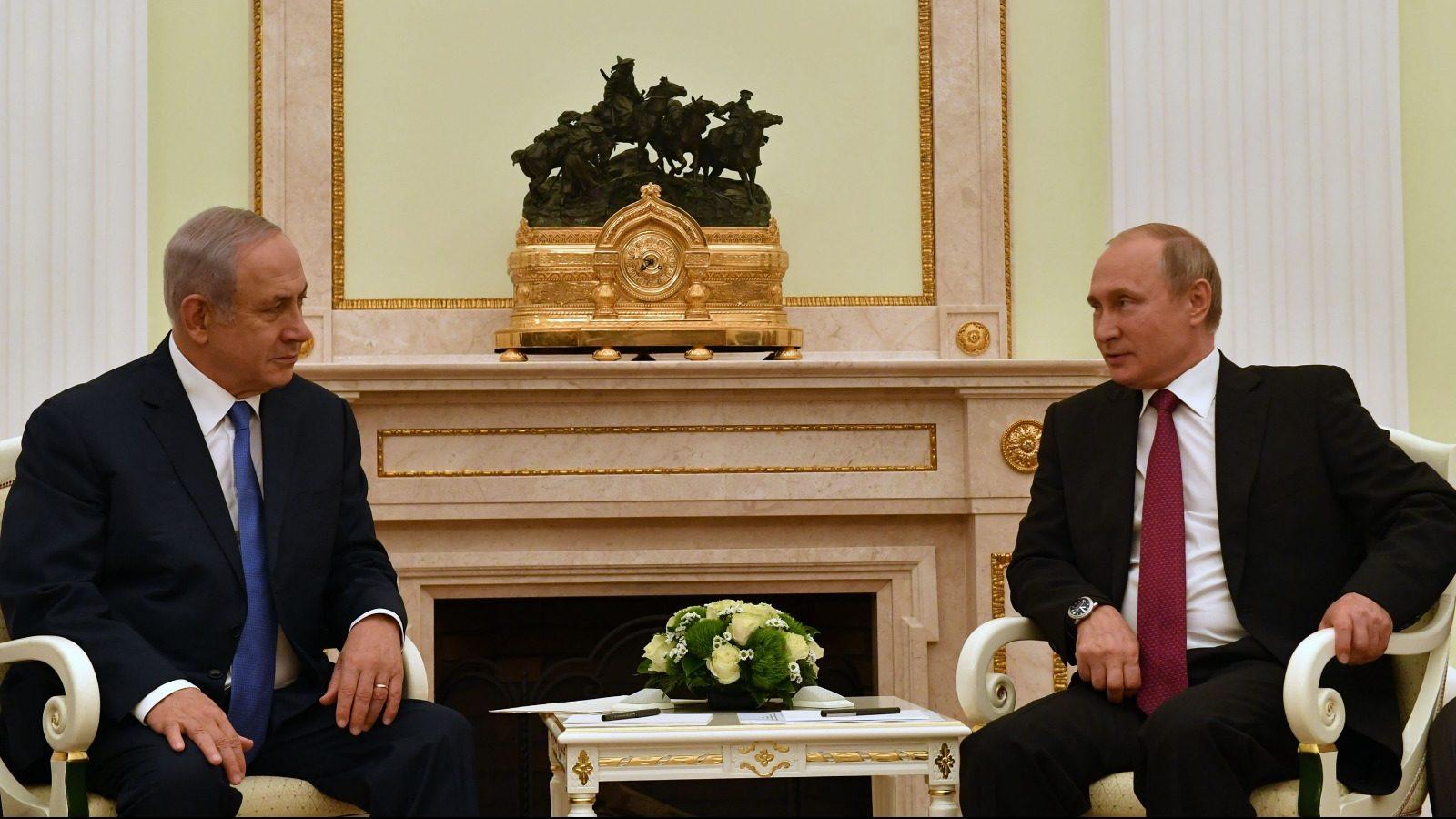 """נתניהו בפתח פגישתו עם פוטין: """"הקשר הישיר בינינו תרם רבות לביטחון וליציבות באזור"""""""