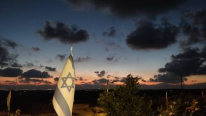 """ערב טוב ישראל עם השקיעה המדהימה ביישוב ניל""""י"""