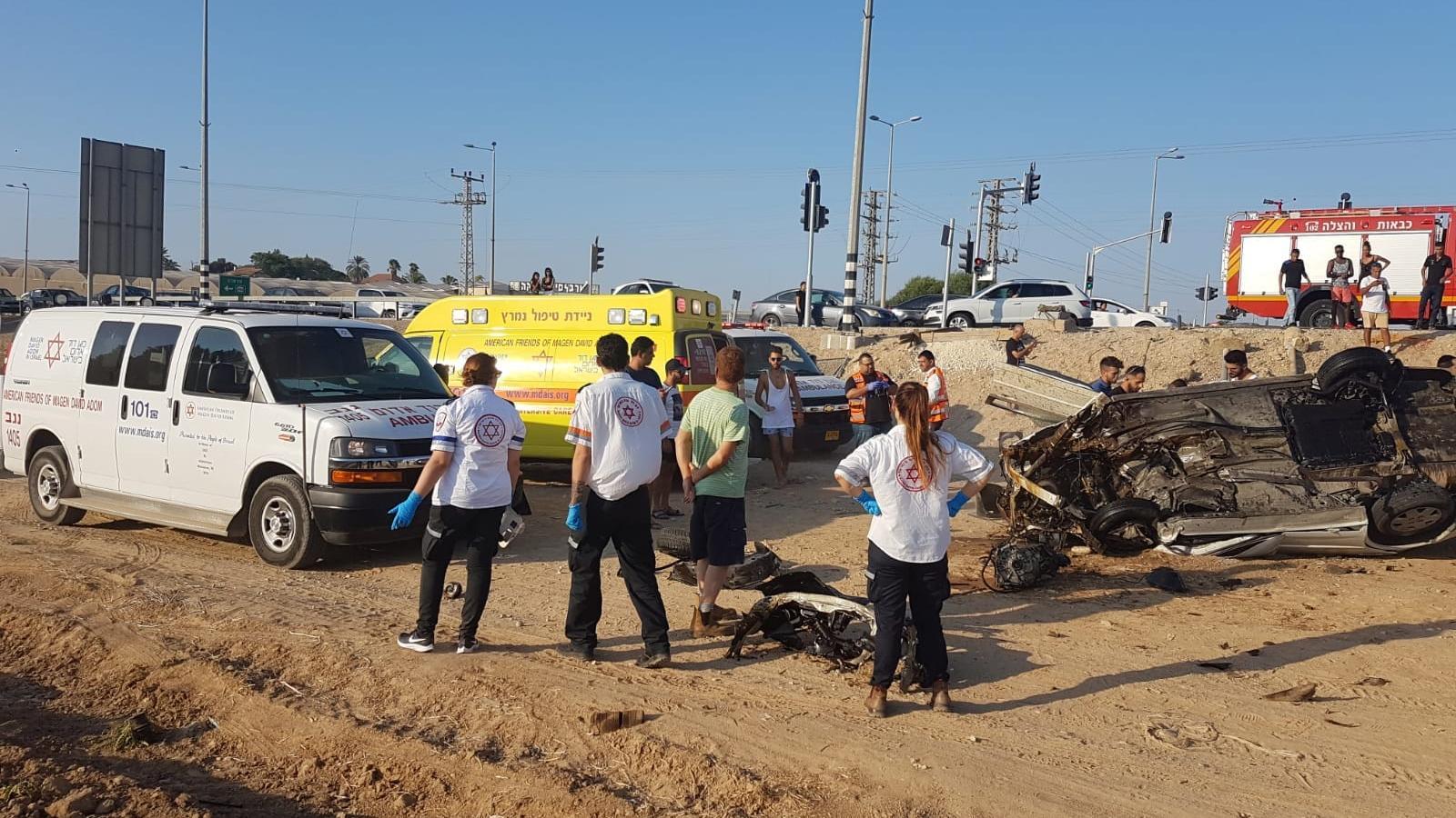 פצוע קשה בתאונת דרכים בכביש 25 סמוך לבית הגדי