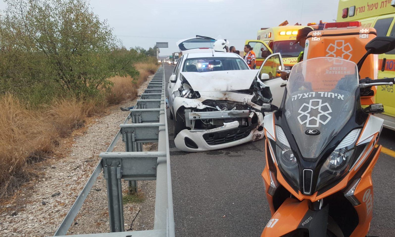 4 נפגעים בתאונת דרכים סמוך למחלף קרית גת