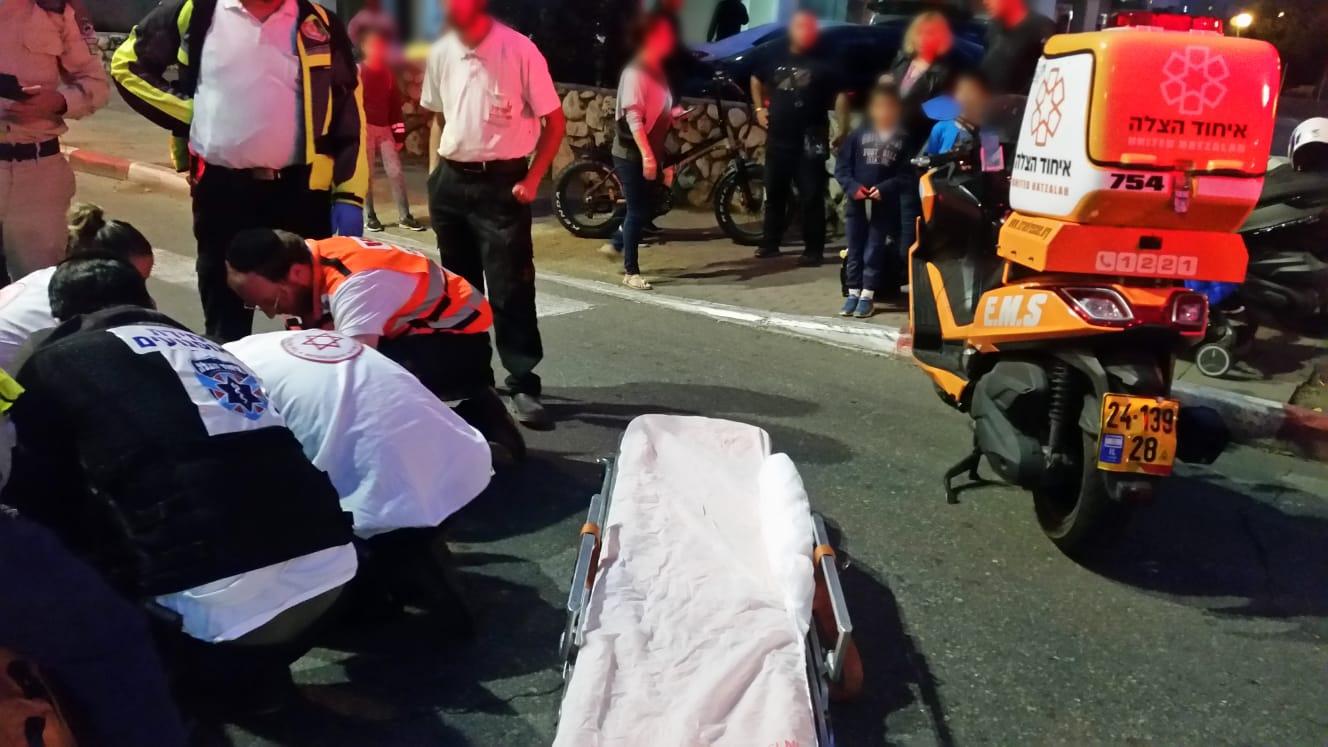 הולכת רגל בת 65 נפצעה בתאונת דרכים באשדוד