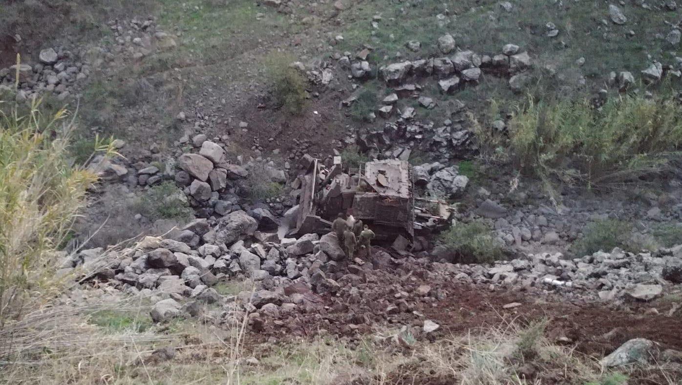 """שני לוחמי צה""""ל נפצעו בתאונת אימונים ברמת הגולן"""