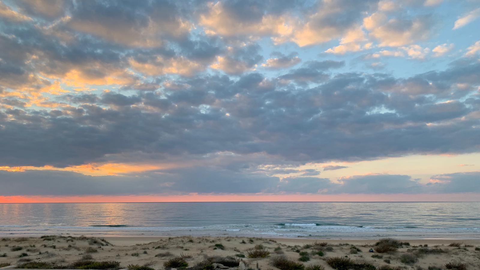 המכחול של היושב במרומים: ערב טוב ישראל עם הנוף המדהים בכביש החוף
