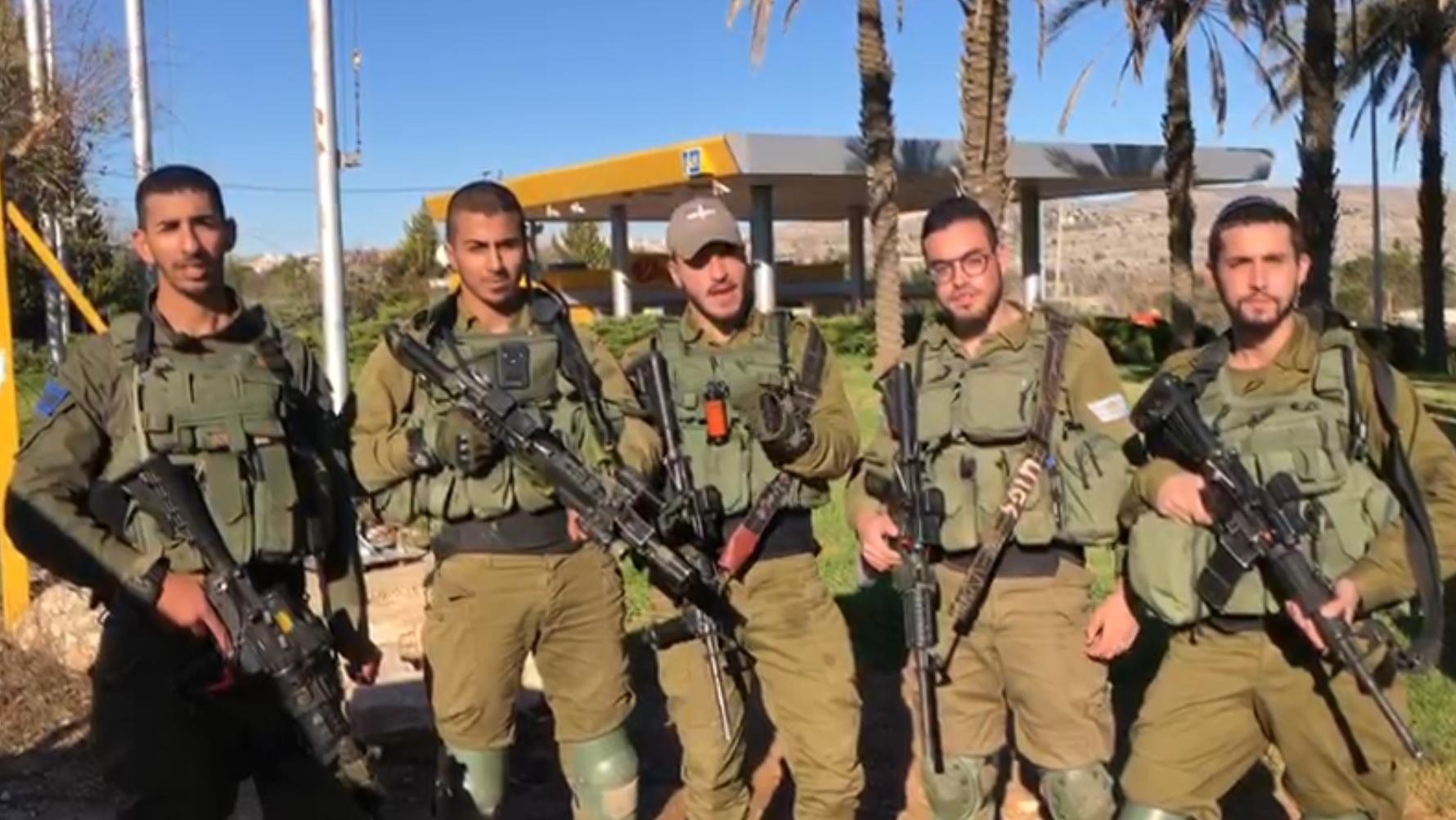 """צפו: לוחמי """"נצח יהודה"""" ששילמו השבוע מחיר כבד במלחמה בטרור מאחלים שבת שלום לעם ישראל"""