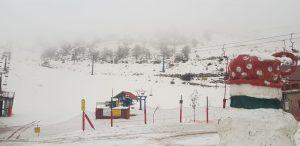 אתר החרמון: שלג יורד במפלס העליון והתחתון