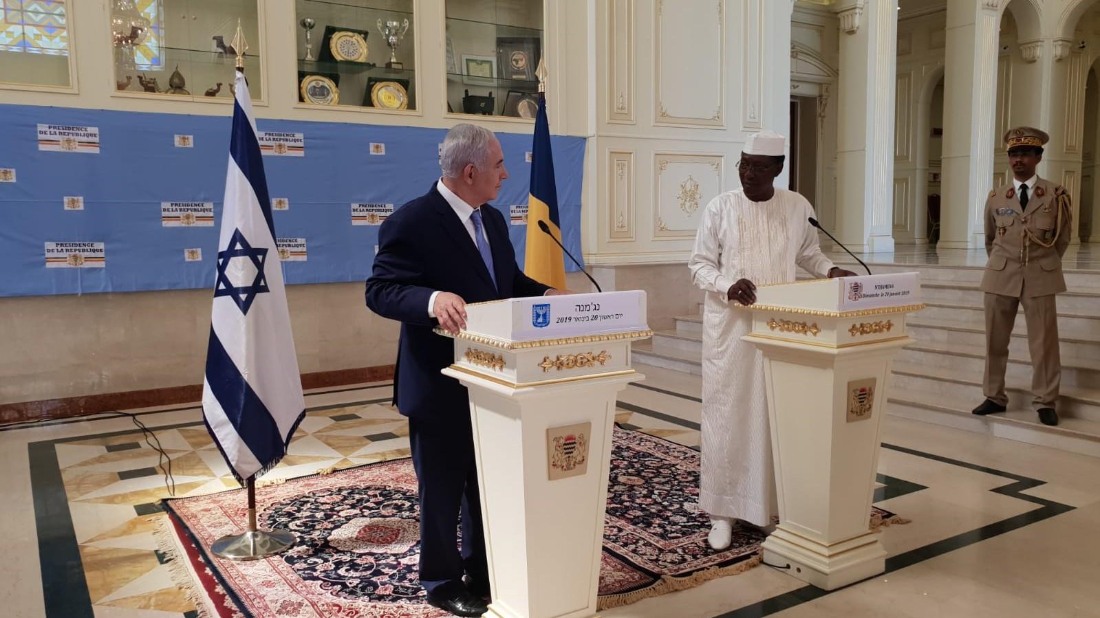"""נתניהו ונשיא צ'אד הכריזו: """"מחדשים את היחסים הדיפלומטיים בין המדינות"""""""