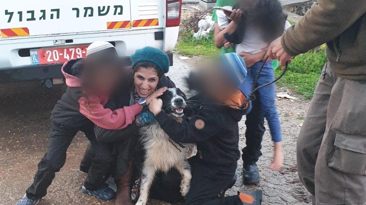 """היה במצוקה ומפוחד: כוח מג""""ב שפעל בברטעה איתר כלב שנגנב מבעליו – צפו בתמונות"""