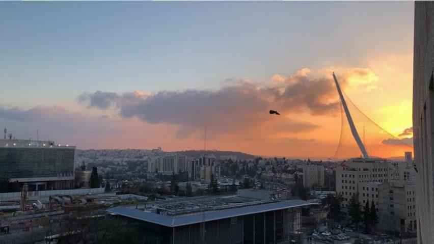 ערב טוב ישראל עם השקיעה המהממת שתועדה בירושלים