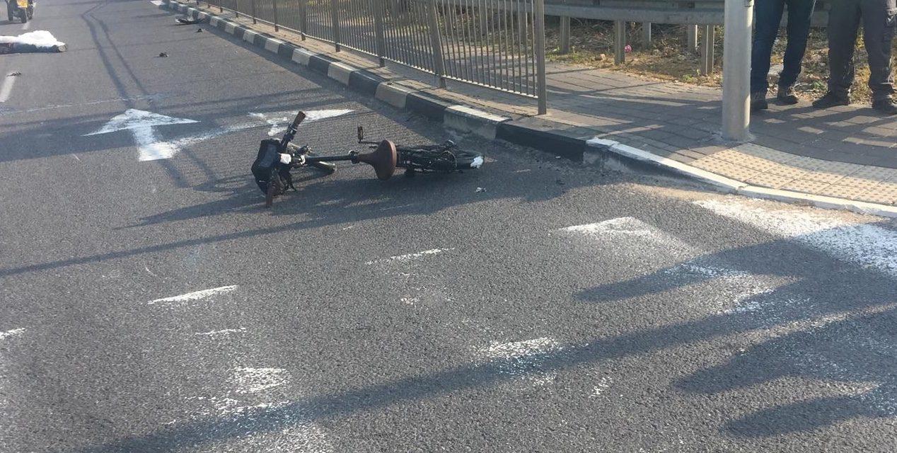 רוכב אופניים נפצע בינוני בתאונת דרכים סמוך לכניסה לאשקלון