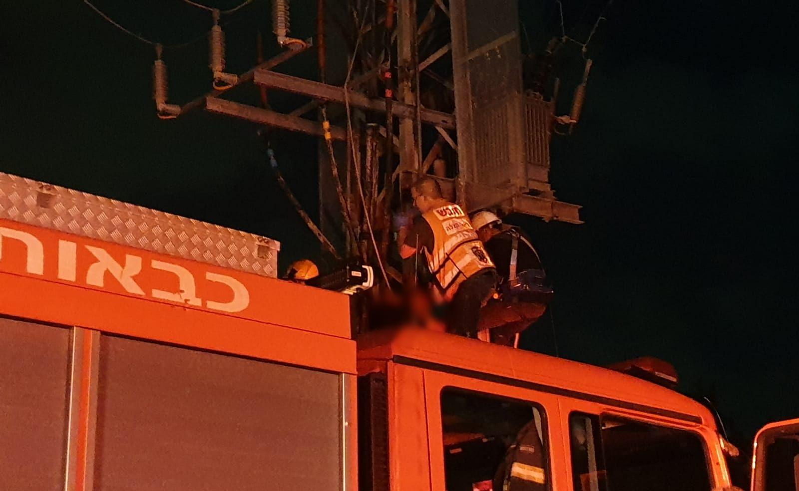 שני פועלים נפצעו אנוש וקשה לאחר שהתחשמלו סמוך למושב בן זכאי