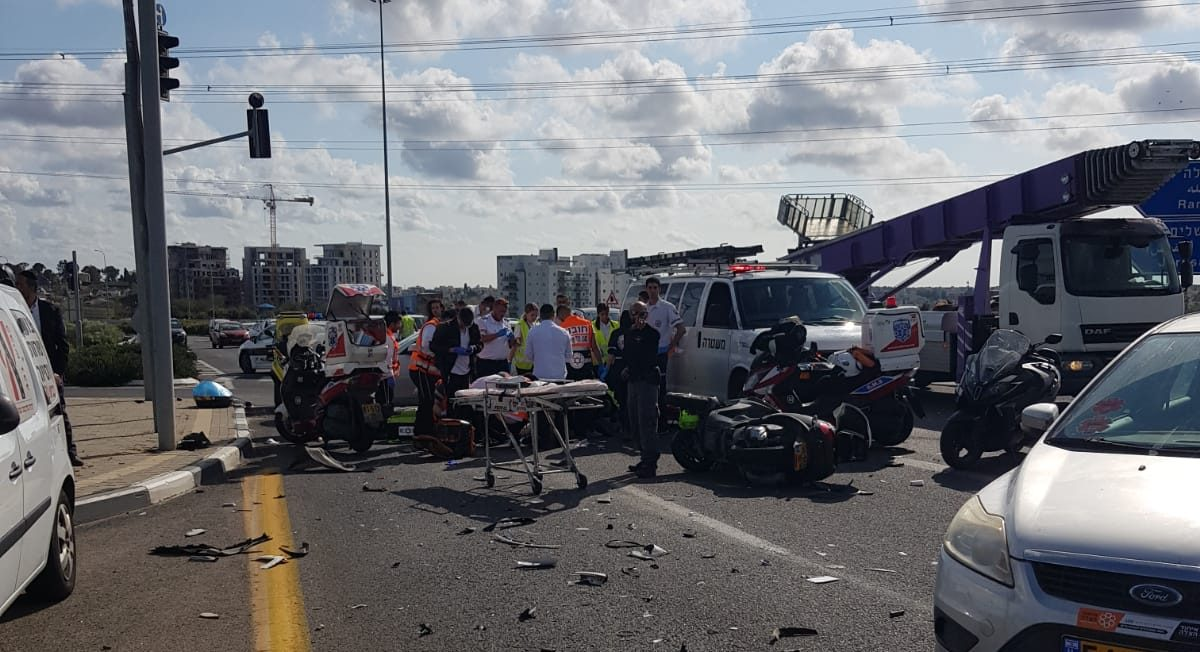 תאונה קטלנית בכביש 431: רוכב אופנוע כבן 51 נפגע מרכב ונהרג