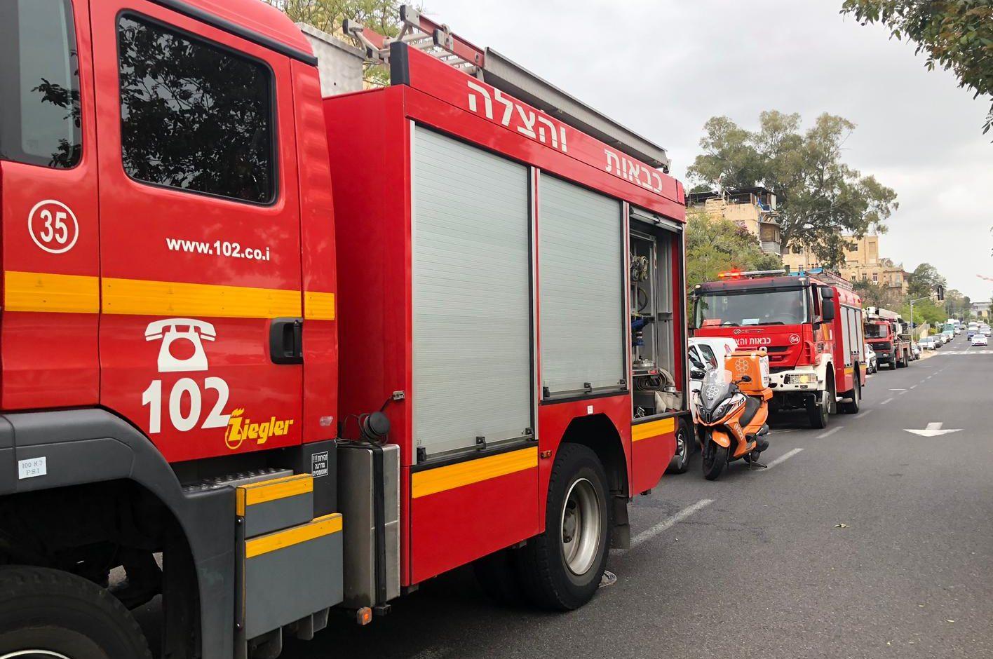 בשל שריפה: כביש 264 נחסם לתנועה מצומת רהט לצומת בית קמה