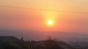 ערב טוב ישראל עם השקיעה היפה שתועדה בכביש 443