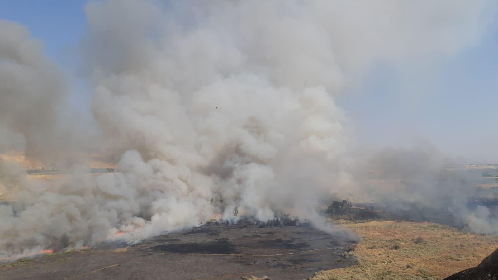 """טרור הצתות: בתום חקירת השריפה באתר העתיקות """"סוסיא"""" נקבע כי מדובר בהצתה מכוונת"""