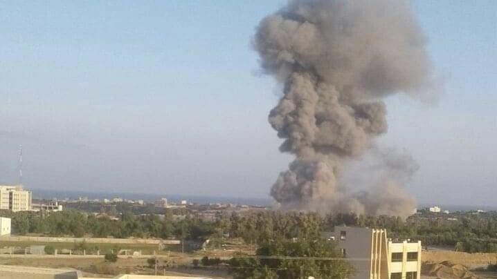 בתגובה לשיגורי הרקטות: כוחותינו מחיל האוויר תקפו אתר לייצור אמצעי לחימה של ארגון הטרור חמאס