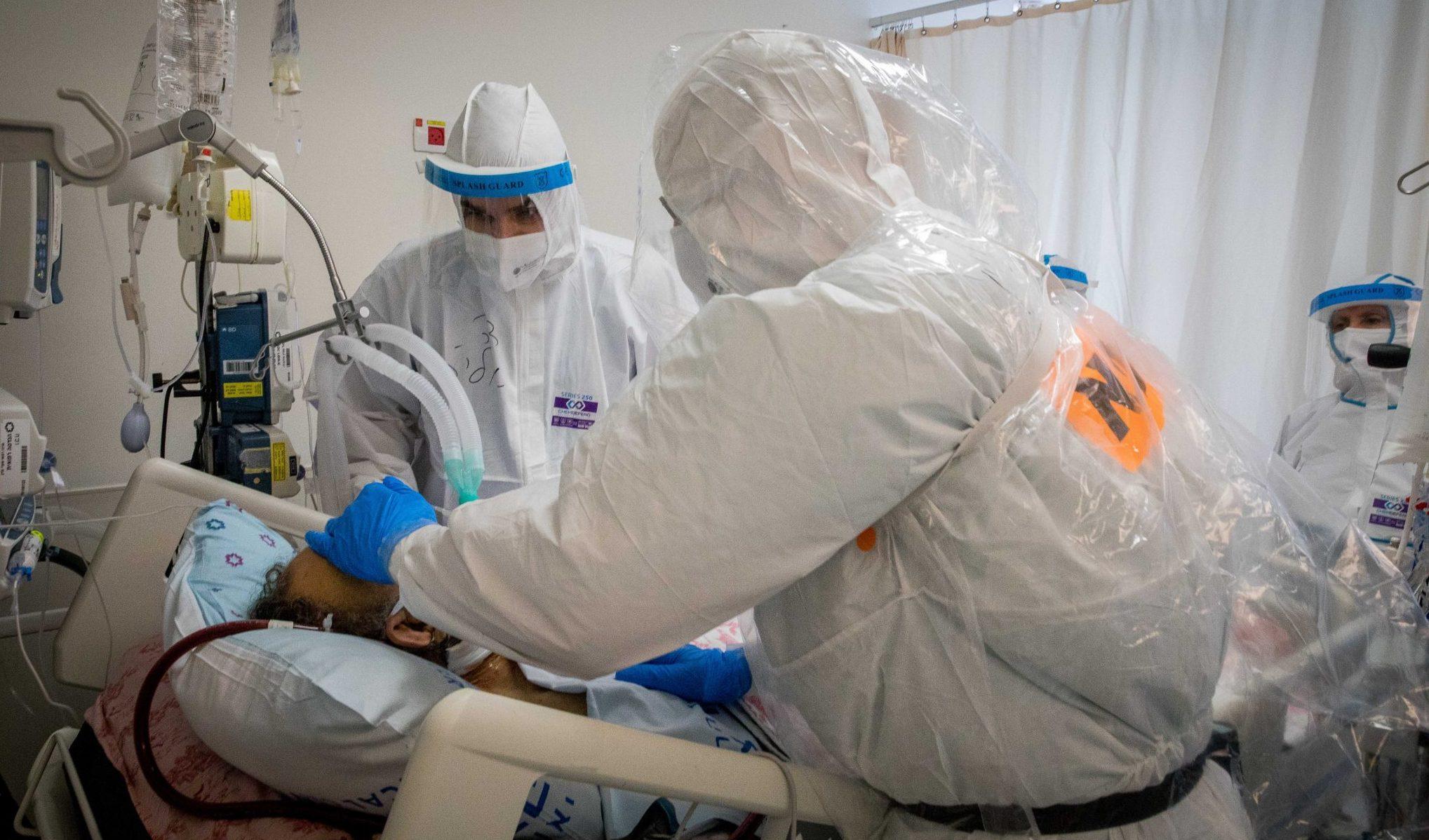 23 חולי קורונה מאושפזים בבית החולים הדסה במצב קשה וקריטי