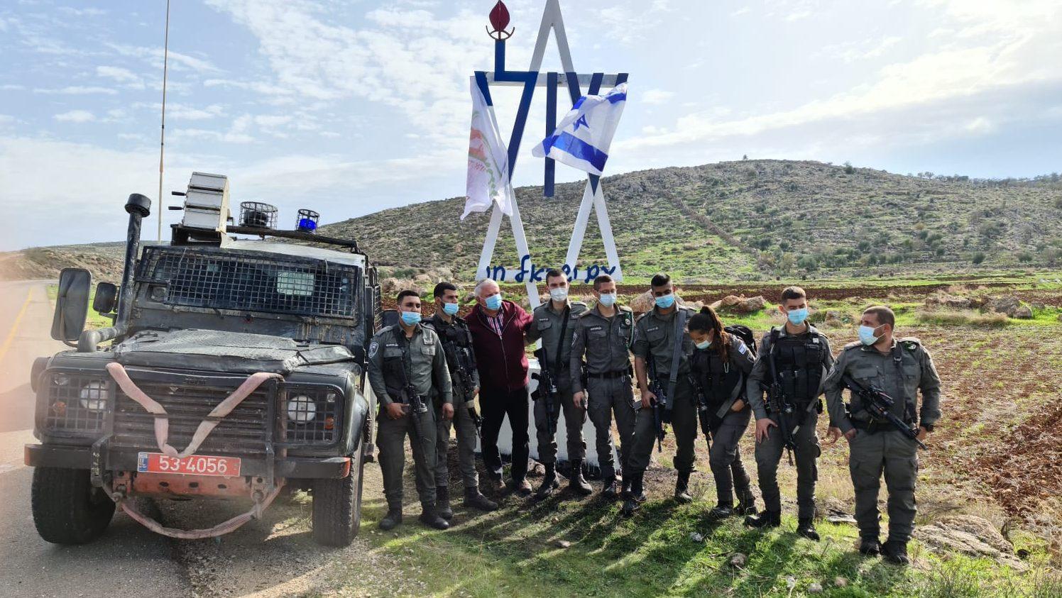 כוחות הביטחון שיקמו את האנדרטה לזכר שולי הר מלך שבוזתה ע