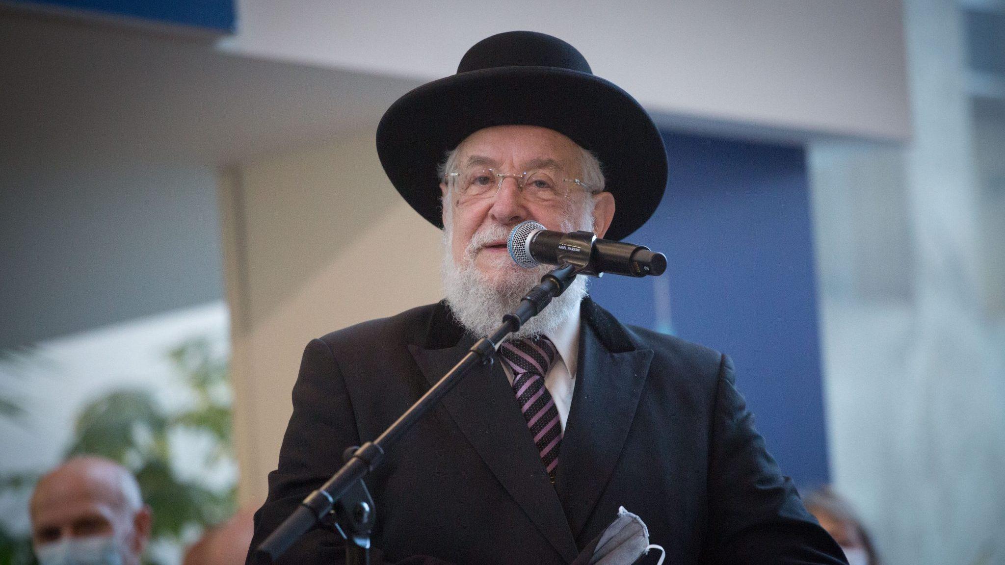 הרב הראשי לשעבר ישראל מאיר לאו אובחן כחיובי לקורונה