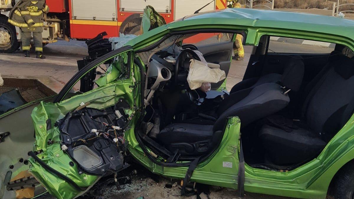 פצועה אנוש בתאונת דרכים בבאר שבע