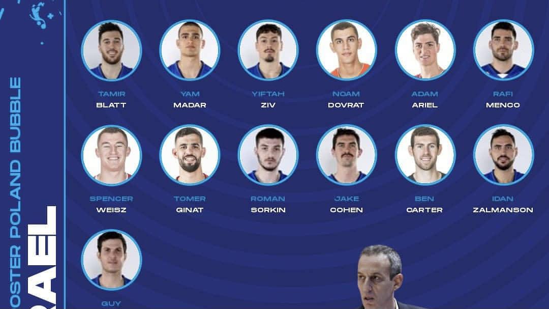 כדורסל: נקבע סגל שחקני הנבחרת שייצא לפולין, גל מקל בחוץ