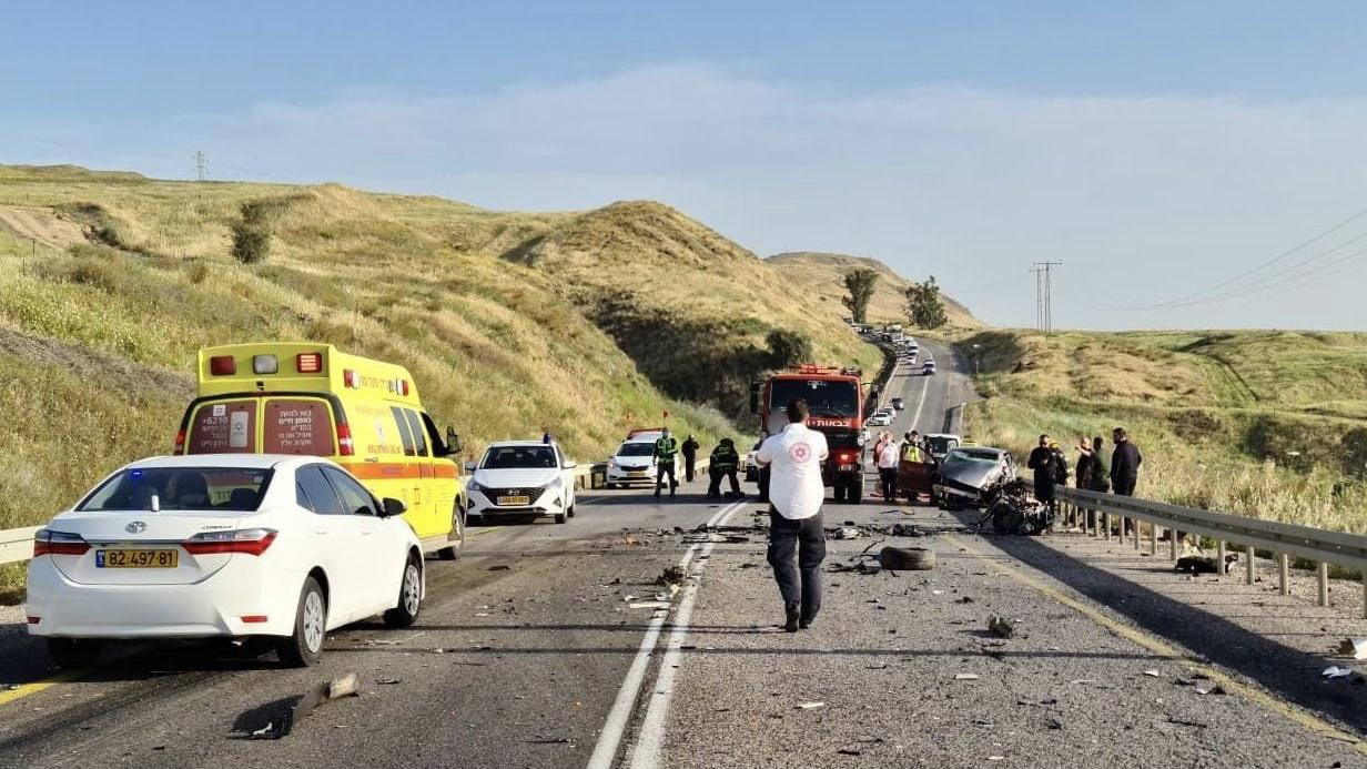 הרוג בתאונת דרכים בכביש 90 סמוך לבית שאן