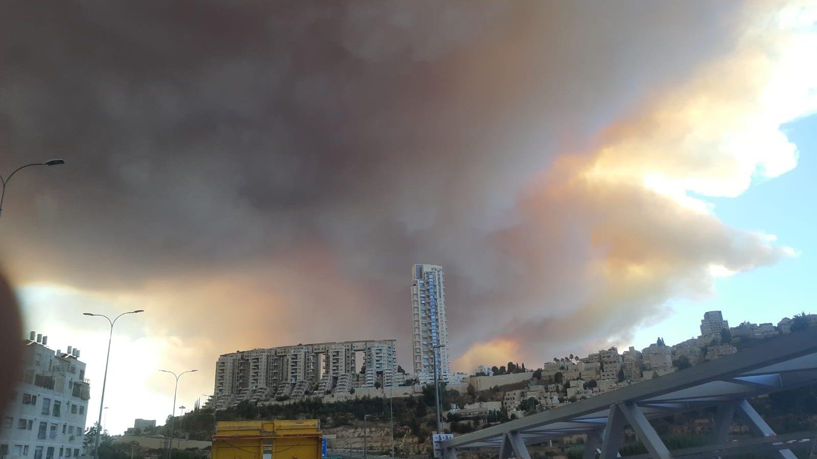 השריפה בהרי ירושלים: שני בני אדם מוגדרים נעדרים